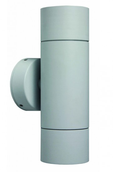 2 Light GU10 Up / Down Long Body Wall Pillar Light in White CLA Lighting