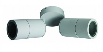 2 Light MR16 Double / Adjustable Long Body Wall Pillar Light in White CLA Lighting