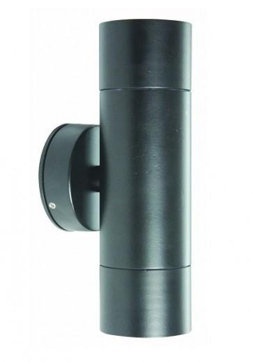 2 Light MR16 Up / Down Long Body Wall Pillar Light in Black CLA Lighting