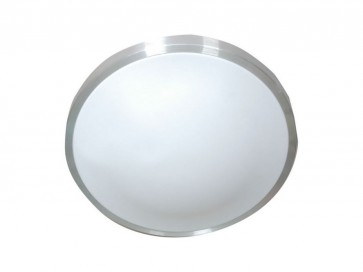 22W Circular T5 Oyster Trim in Silver Rim / Opal CLA Lighting