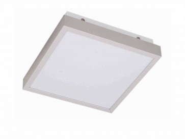 22W Square T5 Powder Coated Iron Plate Oyster in Aluminium / Poly CLA Lighting