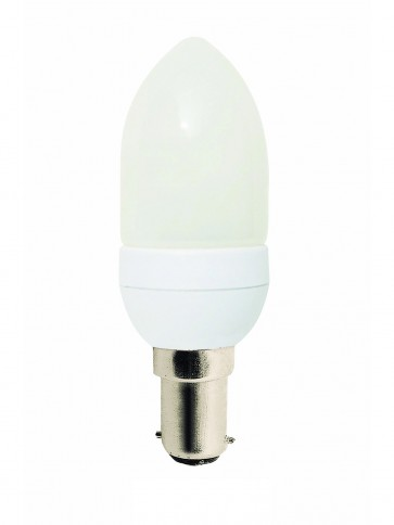 240V 11W Mini Candle Energy Saving Fluorescent Bulb - 8000 Hours CLA Lighting