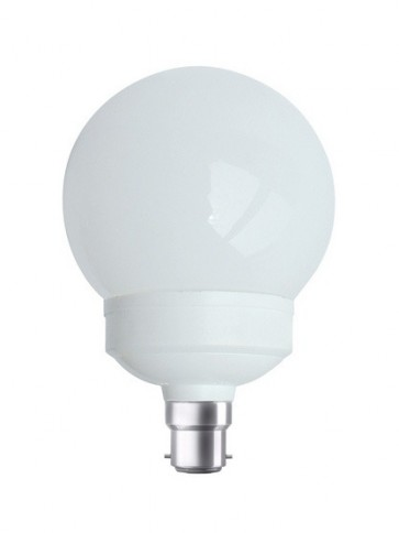 240V 15W BC Globe CFL Sphere Fluorescent Bulb 8000 Hours CLA Lighting
