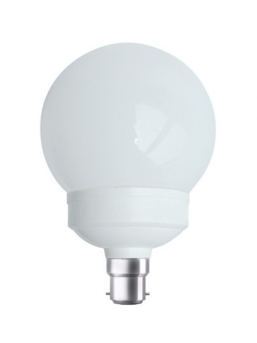 240V 20W BC Globe CFL Sphere Fluorescent Bulb 8000 Hours CLA Lighting