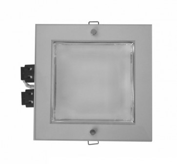 240V 26W Side Entry Square Twin Energy Saving Fluorescent Downlight in White CLA Lighting