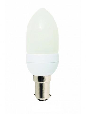 240V 7W Mini Candle Energy Saving Fluorescent Bulb - 8000 Hours CLA Lighting