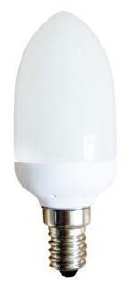 240V 7W Mini Candle Globe Energy Saving Fluorescent Bulb - 8000 Hours CLA Lighting