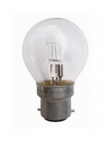 240V BC Fancy Round Halogen Energy Saving in Clear 2000 Hours CLA Lighting