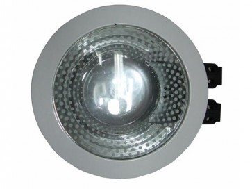 240V Commercial Energy Saving Fluorescent Downlight in Satin Chrome CLA Lighting