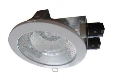 240V Commercial Energy Saving Fluorescent Downlight in White CLA Lighting