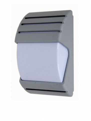 240V E27 Arch Outdoor Wall Light in Silver CLA Lighting