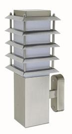 240V E27 Louvered Outdoor Wall Light in Stainless Steel CLA Lighting