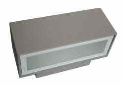 240V E27 Rectangle Outdoor Wall Light in Satin Nickel CLA Lighting