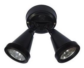 240V G9 Double Security Spotlight in Black CLA Lighting