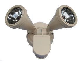 240V G9 Double Sensor Security Spotlight in Beige CLA Lighting