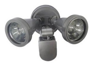 240V G9 Double Sensor Security Spotlight in Grey Silver CLA Lighting