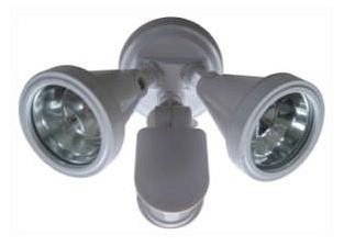 240V G9 Double Sensor Security Spotlight in White CLA Lighting