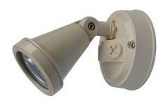 240V G9 Single Security Spotlight in Beige CLA Lighting