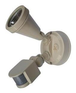 240V G9 Single Sensor Security Spotlight in Beige CLA Lighting