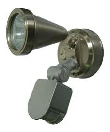 240V G9 Single Sensor Security Spotlight in Nickel CLA Lighting