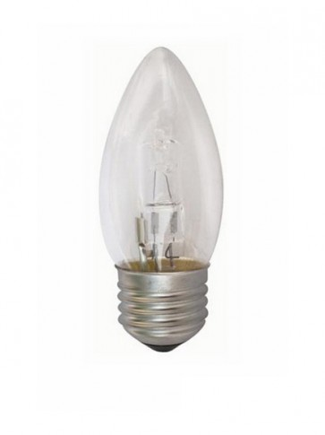 240V Globe Candle Halogen Energy Saving in Clear CLA Lighting