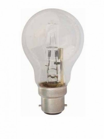 240V GLS BC Halogen Energy Saving in Clear 2000 Hours CLA Lighting