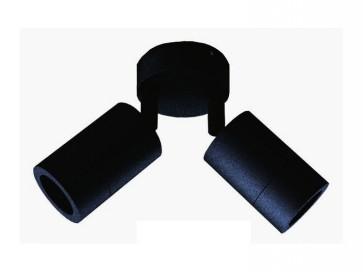 240V GU10 Double Adjustable Long Body Wall Pillar Light in Black CLA Lighting