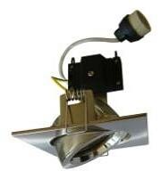 240V GU10 Gimble Downlight Frame in Satin Chrome with Lamp Holder CLA Lighting