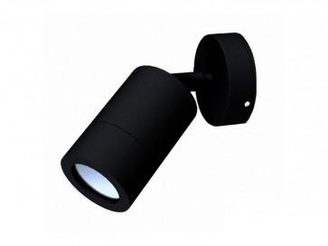 240V GU10 Single Adjustable Long Body Wall Pillar Light in Black CLA Lighting