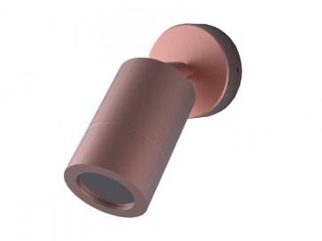 240V GU10 Single Adjustable Long Body Wall Pillar Light in Copper CLA Lighting