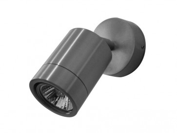 240V GU10 Single Adjustable Short Body Wall Pillar Light in Stainless Steel CLA Lighting