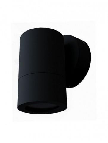 240V GU10 Single Fixed Long Body Wall Pillar Light in Black CLA Lighting