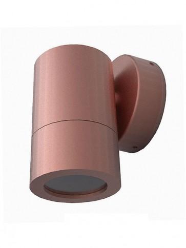 240V GU10 Single Fixed Long Body Wall Pillar Light in Copper CLA Lighting