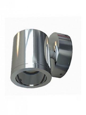 240V GU10 Single Fixed Short Body Wall Pillar Light in Stainless Steel CLA Lighting