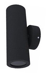 240V GU10 Up/Down Fixed Long Body Wall Pillar Light in Black CLA Lighting