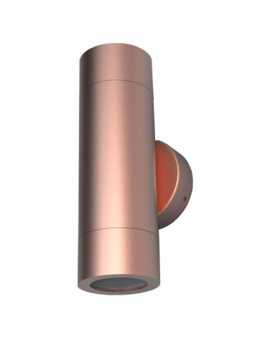 240V GU10 Up/Down Fixed Long Body Wall Pillar Light in Copper CLA Lighting