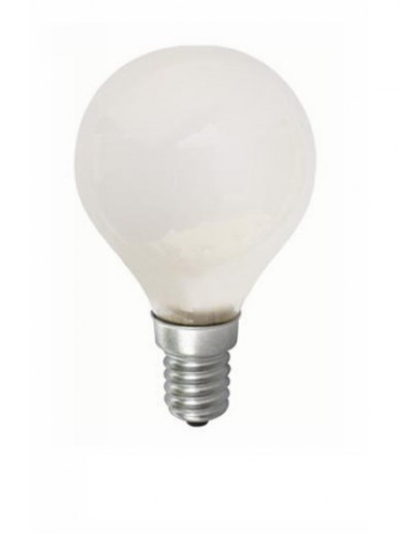 240V Mini Base Fancy Round Halogen Energy Saving in Frosted CLA Lighting
