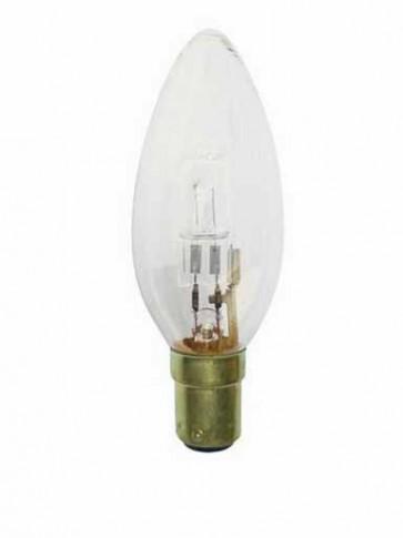 240V Mini Base Globe Candle Halogen Energy Saving in Clear 2000 Hours CLA Lighting