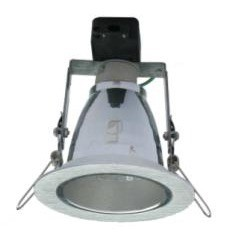 240V Round Two Tone Heavy Adjustable Downlight Frame in Brushed Silver CLA Lighting
