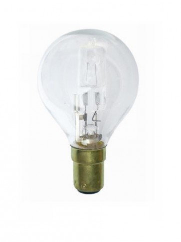 240V SBC Mini Base Fancy Round Halogen Energy Saving in Clear CLA Lighting