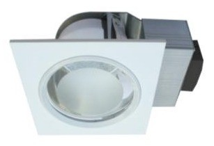 240V Side Entry Square Twin Ballast Downlight Frame CLA Lighting