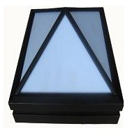 240V Square Outdoor Bunker Light in Black CLA Lighting