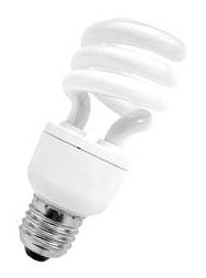 240V T2 15W ES Spiral Dimmable Fluorescent Bulb 8000 Hours CLA Lighting