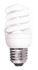 240V T2 15W ES Spiral Fluorescent Bulb 10000 Hours CLA Lighting