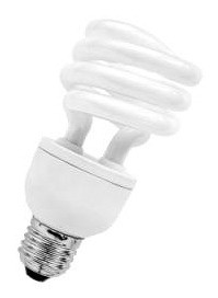 240V T2 20W ES Spiral Dimmable Fluorescent Bulb 8000 Hours CLA Lighting