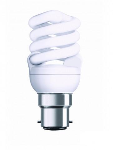240V T2 9W BC Spiral Fluorescent Bulb 10000 Hours CLA Lighting