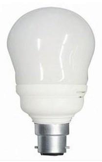 240V T2 BC Globe Spiral Energy Saving Fluorescent Bulb 6000 Hours CLA Lighting