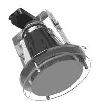 240V Vertical Large Round Downlight Frame with Drop Glass Front CLA Lighting