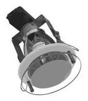240V Vertical Small Round Downlight Frame with Drop Glass Front CLA Lighting