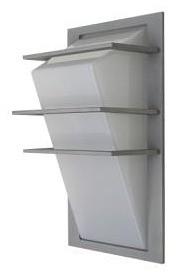 3 Bar Angled Diffuser Wall Pillar Light in Grey CLA Lighting
